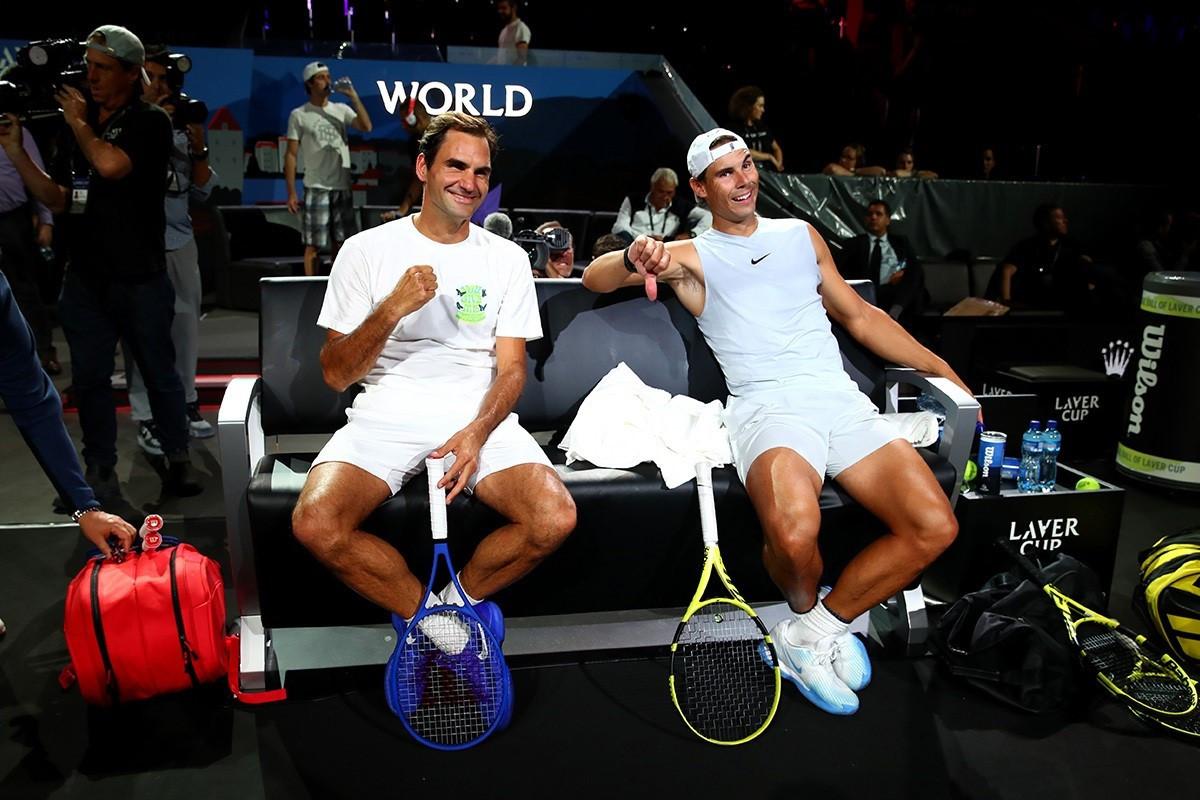 Roger Federer y Rafa Nadal grandes amigos