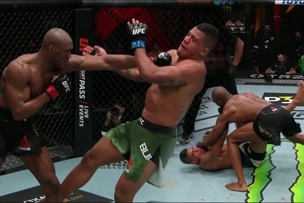 Kamaru Usman vs. Gilbert Burns. Foto YouTube.