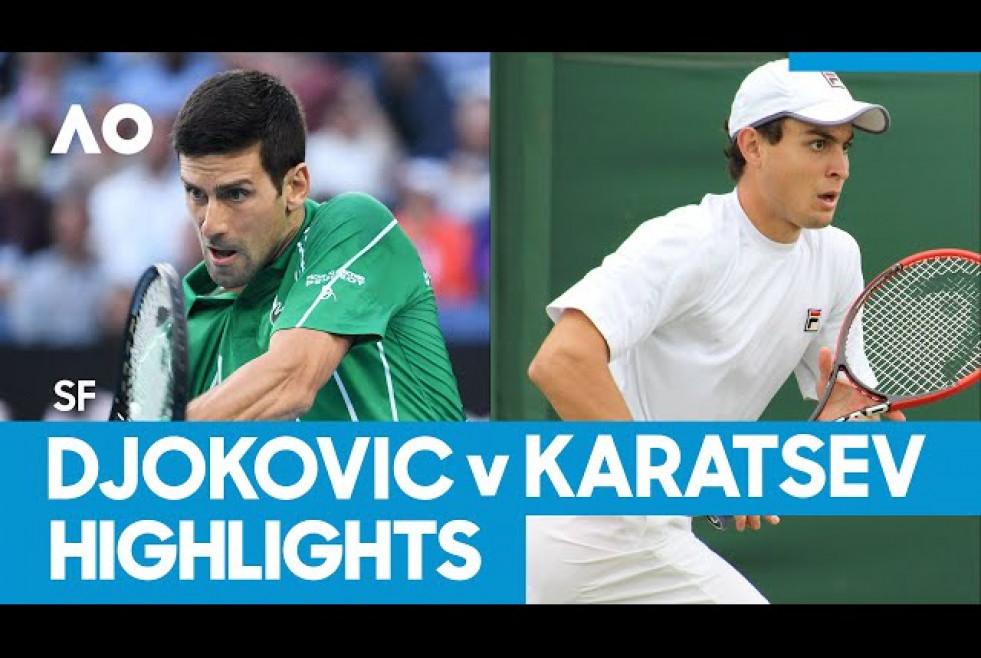 Novak Djokovic vs Aslan Karatsev Match Highlights (SF) | Australian Open 2021