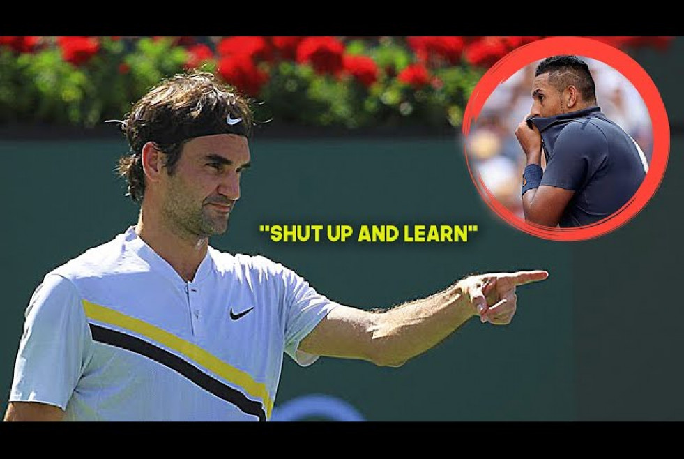 The Day Roger Federer Gave Nick Kyrgios a Tennis Lesson