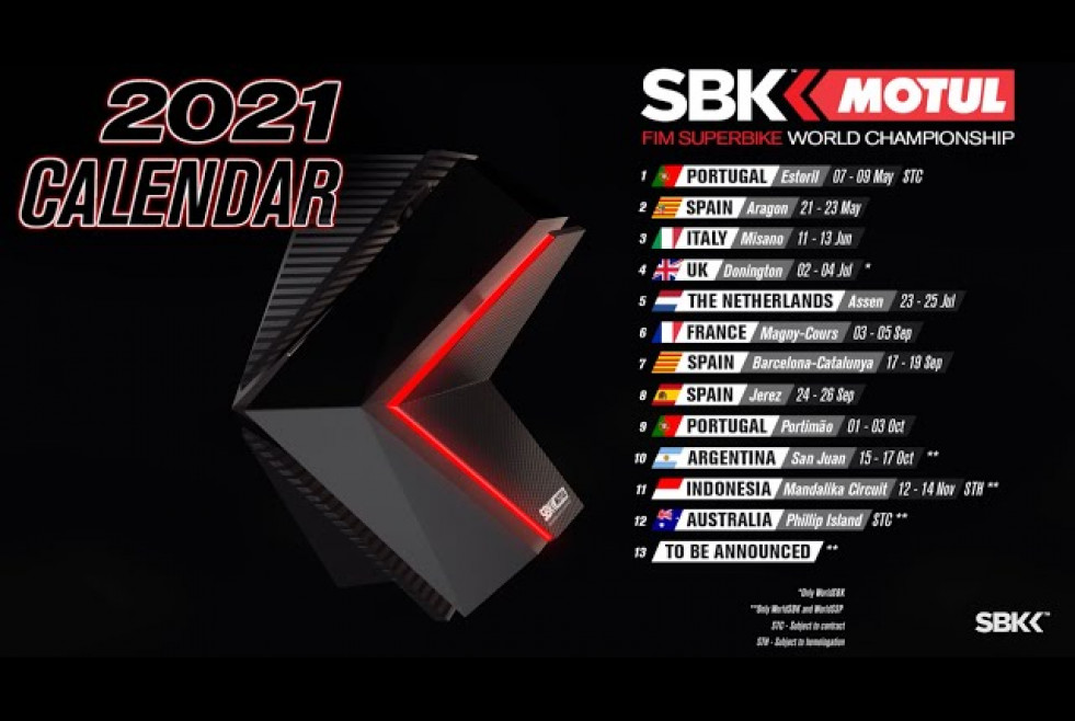 UPDATED 2021 WorldSBK Calendar