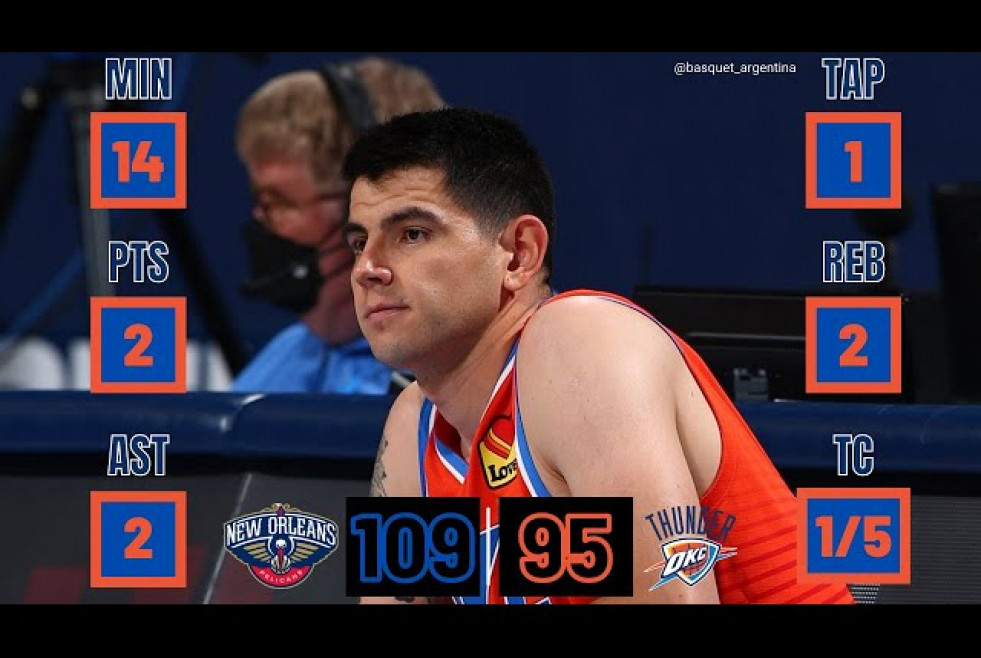 Gabriel Deck | NBA Highlights | Oklahoma City Thunder - New Orleans Pelicans (DEBUT)