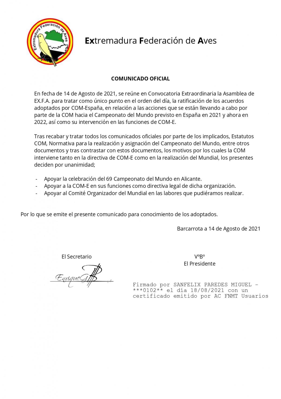 COMUNICADO OFICIAL signed page 0001
